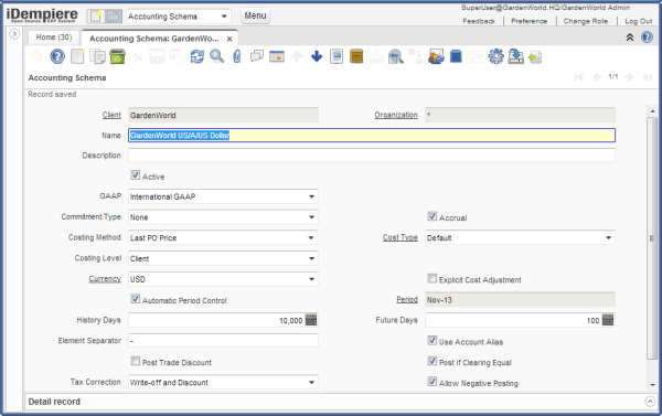 idempiere last PO costing method cost element Accounting Schema-resized-600
